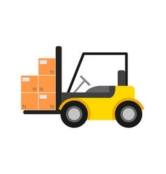 Delivery icon with warehouse forklift vector