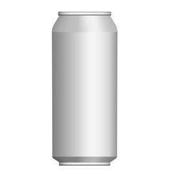 Drink tin can mockup realistic style vector