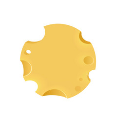 emblem with porous cheese round form vector image