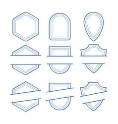 Geometric frames set vector