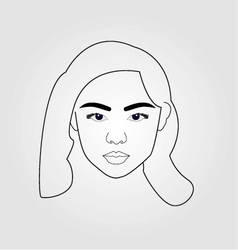 Girl drawn using lines vector image