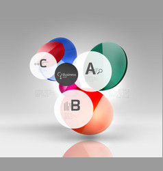 Glass circles banner vector