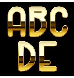 Gold alphabet letters vector image