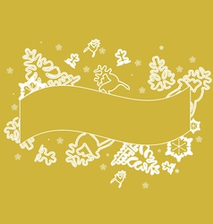 gold lace christmas background vector image