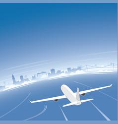 Goteborg skyline flight destination vector