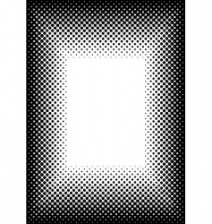 halftone picture frame vector image