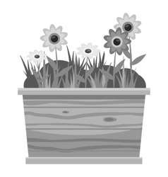 Icon gray monochrome style vector