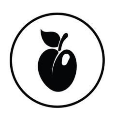 icon of plum vector image