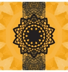 Indian Yoga Ornament kaleidoscopic floral pattern vector image