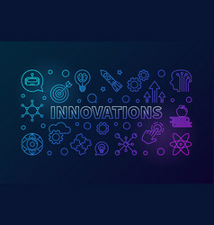 innovations creative outline horizontal vector image