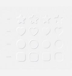 light neumorphic design elements star heart vector image