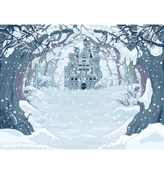 Magic Winter Castle vector image