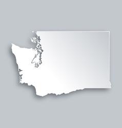 Map of Washington vector image