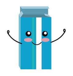 Medical pills box kawaii character vector