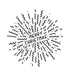 merry christmas card creative design in memphis vector image