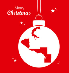 merry christmas theme with map of anchorage alaska vector image