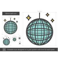 mirror ball line icon vector image