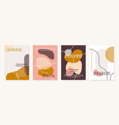 Modern cover design templates set contemporary vector