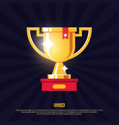 modern professional design winners cup in gold vector image