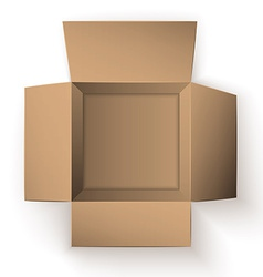 Package Box Opened Top view vector image
