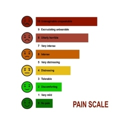Pain scale chart vector