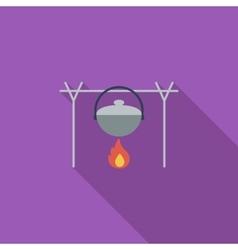 Pot flat icon vector image