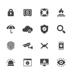 Protection and Security Icons vector