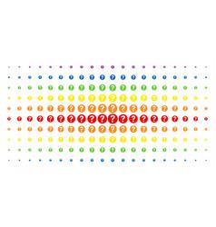 Query spectral halftone array vector