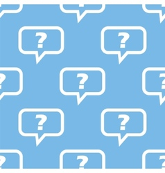Question seamless pattern vector image