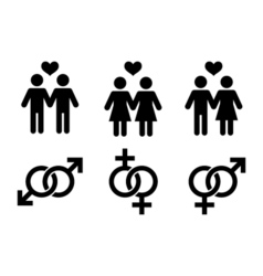 Same-sex couples flat icon vector image