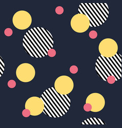 seamless abstract pattern with stripped circles vector image