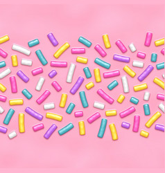 Seamless background pink candy donut glaze vector