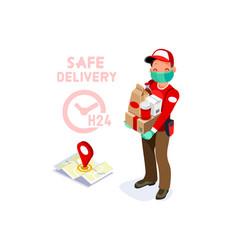 Secure delivery safe deliver symbol vector