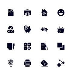 set 16 different universal icons for sites vector image