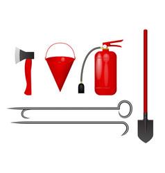 set for firefighter vector image