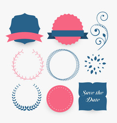 Set of decorative design elements vector