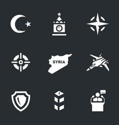 set plane crash icons vector image