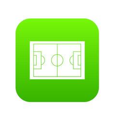 soccer field icon digital green vector image