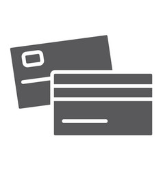 swipe credit card glyph icon bank and transaction vector image