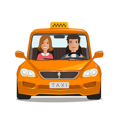 Taxi cab car cartoon transportation concept vector