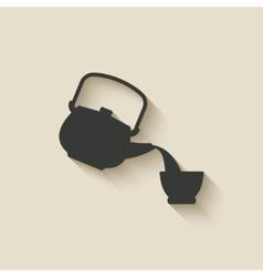 tea ceremony icon vector image
