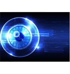 Technological eye scanning hud display security vector