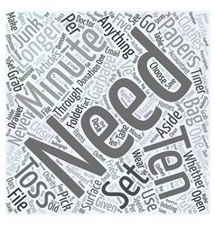 Ten in ten word cloud concept vector