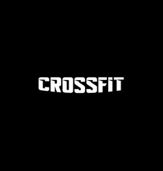 Text crossfit logotype template isolated on black vector
