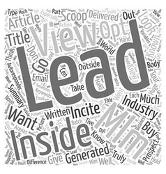 The Insider s View Into the MLM Opt In Leads vector