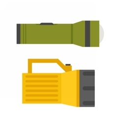 Tourist Flashlight Set vector