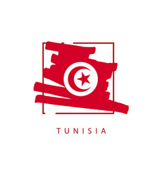 tunisia brush logo template design vector image