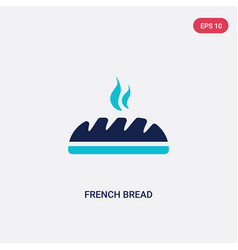 two color french bread icon from food concept vector image