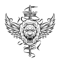 Vintage symbol of a lion head vector