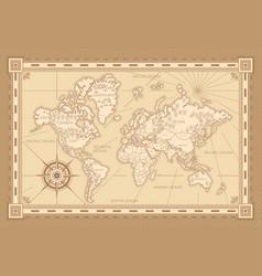 Vintage worldwide map design vector
